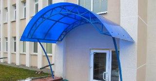 Козырек из поликарбоната Уфа цена от 4537 руб.