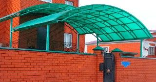 Козырек над домом Уфа цена от 6119 руб.